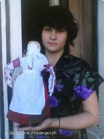 Для изготовления куклы использовала иллюстрацию белорусского национального костюма фото 6