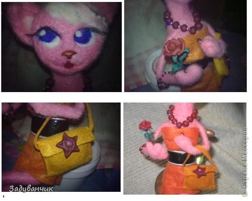 Кошка с розой и сумочкой на стуле фото 3