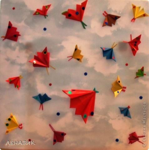 Рыбки и бабочки-оригами фото 2