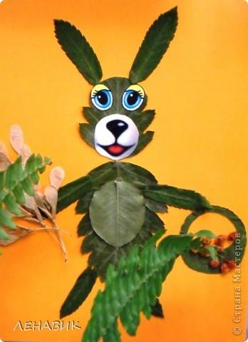 Петушок из осенних листьев выполнен ученицей 2 класса Устиновой Ольгой.  фото 6