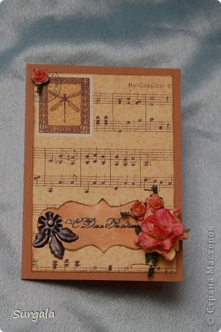 Обложка на паспорт в подарок на ДР родственнице-музыканту. фото 2