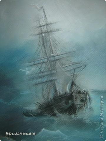 Рисунок под Айвазовского. Рисунок моей сестры. фото 2