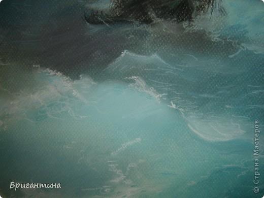 Рисунок под Айвазовского. Рисунок моей сестры. фото 3