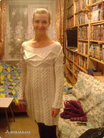 Платье связанное мной на заказчице фото 1