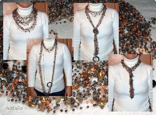 """Круговое воздушное ожерелье """"Ультрамарин 2"""" с камнем бирюза фото 2"""