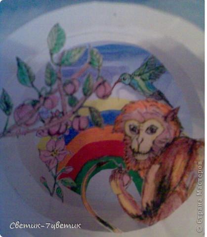 Обезьянка в персиковом саду фото 2