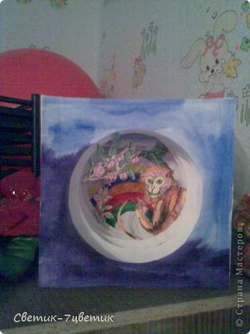 Обезьянка в персиковом саду фото 1