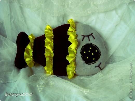 малька) около 20 см в длину текстиль, бабушкины кружева)))) бисер, наполнение ватин пока еще без хозяина(( фото 5
