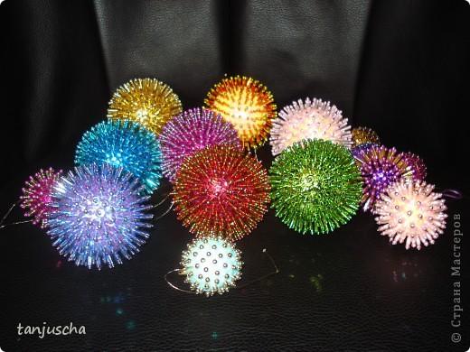 Мастер-класс Новый год Ёлочные игрушки Пайетки Пенопласт фото 1