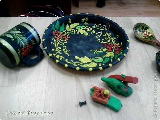 тарелки под хохлому фото 3