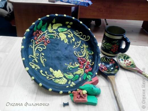 тарелки под хохлому фото 4