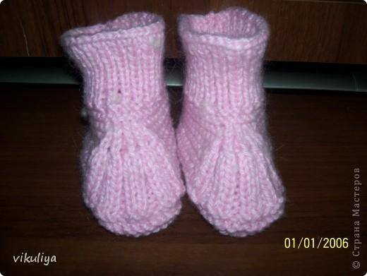 тёплые носочки для любимой дочки фото 1