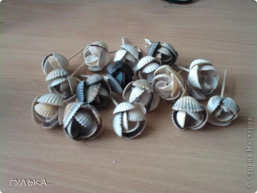 Это моя первая работа с ракушками. Собрала летом на берегу Каспийского моря..... фото 3