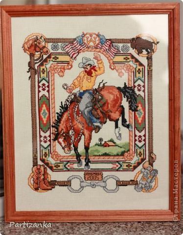 Ковбой на лошади фото 1