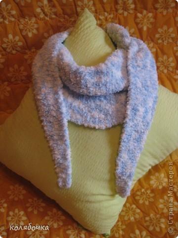 """""""Холодная нежность"""" вовсе не потому что он холодный,а из-за такого приятного голубого оттенка.В очередной раз благодарю Елену за понятные МК http://stranamasterov.ru/node/91002 ,спасибо вам большое Еленочка. фото 1"""
