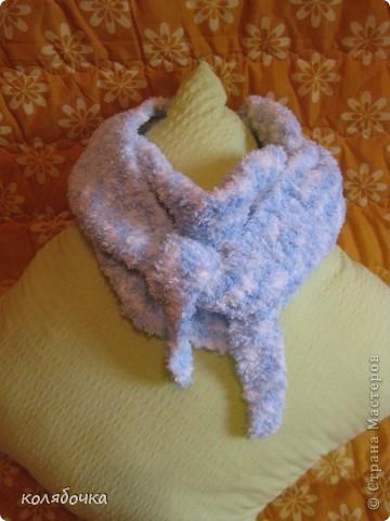 """""""Холодная нежность"""" вовсе не потому что он холодный,а из-за такого приятного голубого оттенка.В очередной раз благодарю Елену за понятные МК http://stranamasterov.ru/node/91002 ,спасибо вам большое Еленочка. фото 2"""