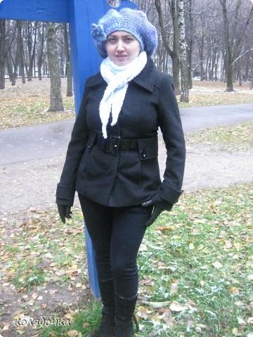 """""""Холодная нежность"""" вовсе не потому что он холодный,а из-за такого приятного голубого оттенка.В очередной раз благодарю Елену за понятные МК http://stranamasterov.ru/node/91002 ,спасибо вам большое Еленочка. фото 8"""