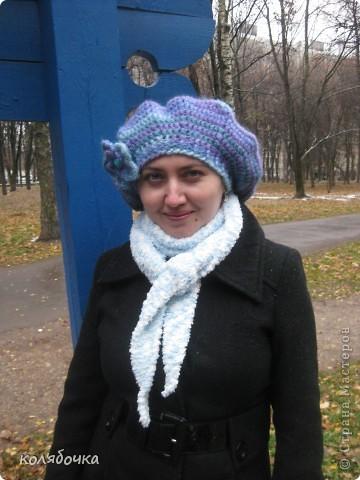 """""""Холодная нежность"""" вовсе не потому что он холодный,а из-за такого приятного голубого оттенка.В очередной раз благодарю Елену за понятные МК http://stranamasterov.ru/node/91002 ,спасибо вам большое Еленочка. фото 7"""
