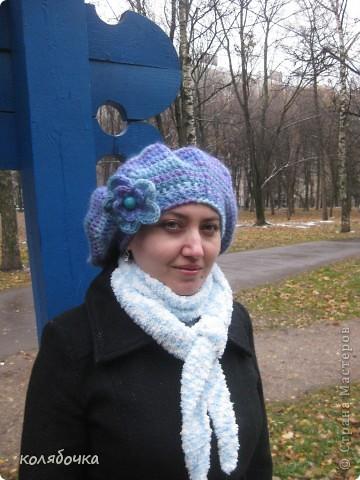 """""""Холодная нежность"""" вовсе не потому что он холодный,а из-за такого приятного голубого оттенка.В очередной раз благодарю Елену за понятные МК http://stranamasterov.ru/node/91002 ,спасибо вам большое Еленочка. фото 6"""