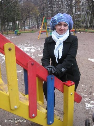 """""""Холодная нежность"""" вовсе не потому что он холодный,а из-за такого приятного голубого оттенка.В очередной раз благодарю Елену за понятные МК http://stranamasterov.ru/node/91002 ,спасибо вам большое Еленочка. фото 9"""