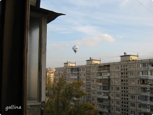 Увидала в окно воздушный шар. Не могла не поделиться такой диковиной. фото 1