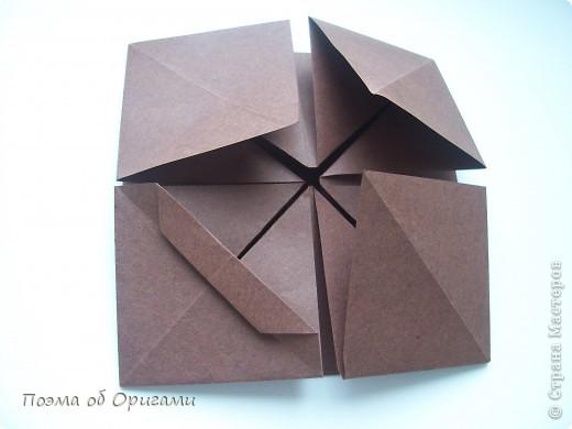 Несмотря на то, что бумага была изобретена в Китае, оригами не получило там такого распространения, как в Японии. В Китае существует совсем небольшой набор сложенных из бумаги изделий, которые можно для этой страны можно считать традиционными. Шанхайская ваза один из таких примеров. фото 12