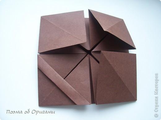 Несмотря на то, что бумага была изобретена в Китае, оригами не получило там такого распространения, как в Японии. В Китае существует совсем небольшой набор сложенных из бумаги изделий, которые можно для этой страны можно считать традиционными. Шанхайская ваза один из таких примеров. фото 13