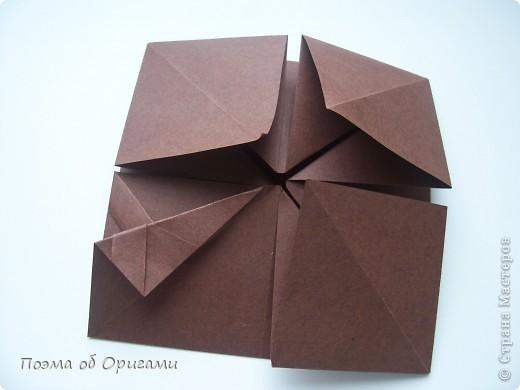 Несмотря на то, что бумага была изобретена в Китае, оригами не получило там такого распространения, как в Японии. В Китае существует совсем небольшой набор сложенных из бумаги изделий, которые можно для этой страны можно считать традиционными. Шанхайская ваза один из таких примеров. фото 14