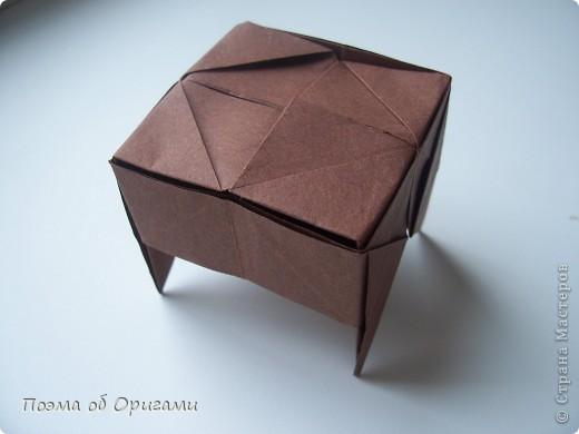Модель бычка совмещает в себе две отдельные фигурки. Модель основы, которая была использована для туловища, считается одной из самых древней, из дошедших до наших дней. Это коробочка «Санбо». А вот голова быка, современная модель, которую придумал Таико Наива из Японии.  фото 20