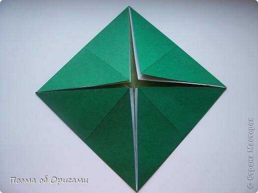Вазочка под названием «Ленивая Сьюзи» необычная для оригами модель, так как имеет округлую форму и взята из книги Рик Бича «Оригами». фото 2