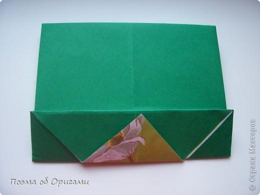 Вазочка под названием «Ленивая Сьюзи» необычная для оригами модель, так как имеет округлую форму и взята из книги Рик Бича «Оригами». фото 3
