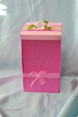 Сделала коробочку-раскладушку для подарка-веточки. фото 1