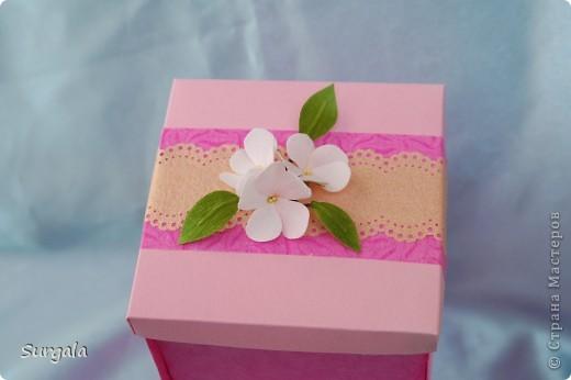 Сделала коробочку-раскладушку для подарка-веточки. фото 2