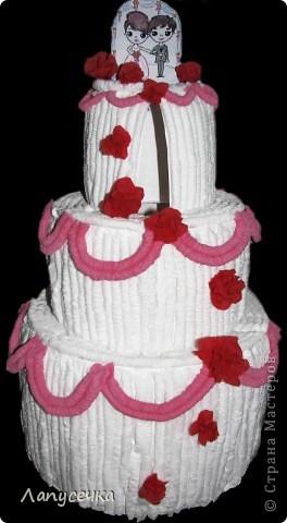 Свадебно-денежный тортик