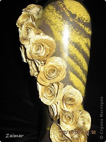 """Еще одна соляночка, самая """"тяжелая"""", заказывали сиренево-золотую, вначале не получился сиреневый цвет он почему-то получился темно-баклажанным, потом никак не хотела засыпаться кое как уложила, потом розы не хотели делаться и укладываться, да и под конец фотографироваться она тоже не очень то хотела. Уффф выговорилась. фото 3"""