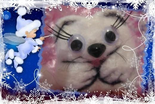 Песец Снежинка (игрушку сваляла моя 8-летняя дочь Марина ) фото 4