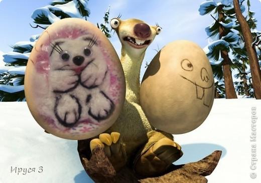Песец Снежинка (игрушку сваляла моя 8-летняя дочь Марина ) фото 5