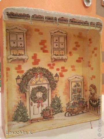 Жила-была  деревянная коробочка из-под конфет....... И вот во что она превратилась... фото 4