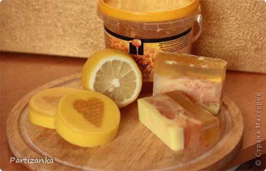 Медово-лимонное мыло фото 1