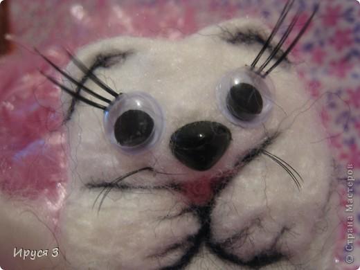 Песец Снежинка (игрушку сваляла моя 8-летняя дочь Марина ) фото 3