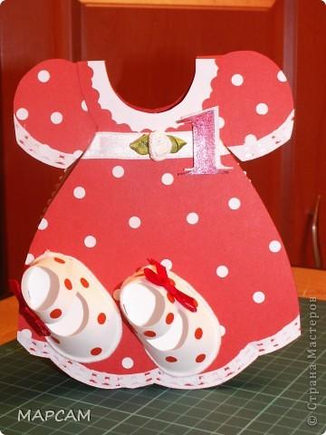 Открытка для девочки на 1 годик. фото 1