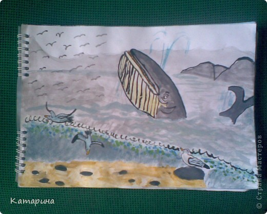 Работы 1 класса школы изобразительного искусства уч.год 2009-2010. Настёна 9 лет. фото 2