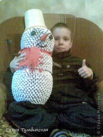 Внук со Снеговиком фото 1