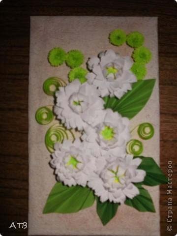 Мои первые цветы из бахромы. фото 5
