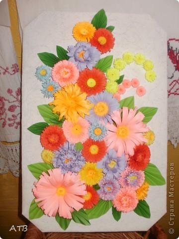 Мои первые цветы из бахромы. фото 1