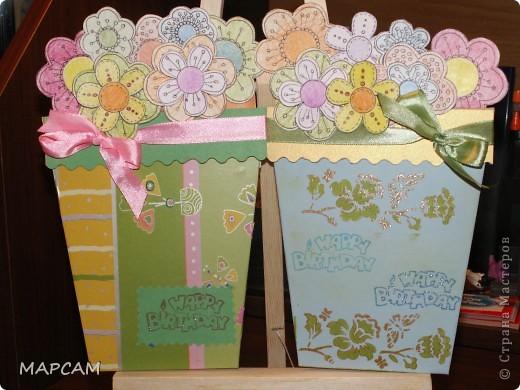 Вот такие цветочные горшочки - открытки... фото 1