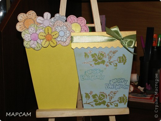 Вот такие цветочные горшочки - открытки... фото 3