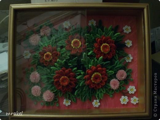 На эту работу вдохновила Лора 34, попыталась изобразить её цветочные композиции. Надеюсь, она не обидится. Ведь тут все пробуют по образцу. Лора 34, спасибо Вам, за Ваши прекрасные работы ! фото 3