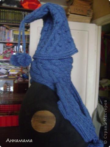 Комплект  шапка,  шарф  15*140 и варежки фото 2