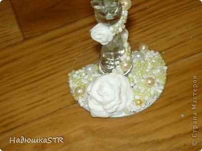 Бокалы с лепкой выполняла на особенных бокалах, что выбрала сама невеста-моя сестренка фото 3